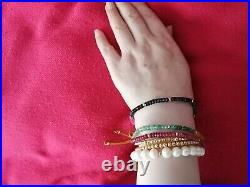 Crazy deal! Authentic solid 18 k gold bead bracelet! Hallmarked