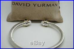 DAVID YURMAN 5mm Renaissance Bracelet Pearl Garnet Sterling Silver 14k Gold