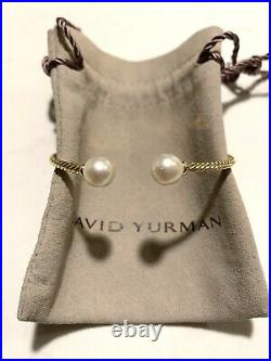 DAVID YURMAN Pre-Owned Solari 18K Yellow Gold & Pearl Bead Bracelet S