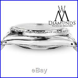 Datejust Women's Rolex 31mm White MOP Mother of Pearl Dial Diamond Bezel Watch