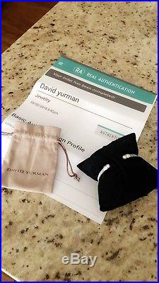 David Yurman 14k Gold and Pearl Cable Classic 5mm Bracelet