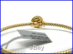 David Yurman 8mm Petite Grey Pearl Chatelaine 18k Yellow Gold Bracelet NWT