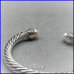 David Yurman Bracelet 7mm Pearl With 14k Gold