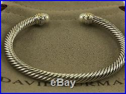 David Yurman Cable Classic Bracelet with Pearl and 14K Gold 5mm