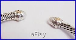 David Yurman Cable Classics 5mm Pearl & 14K Gold BRACELET SMALL SIZE