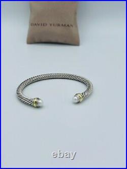 David Yurman Cable Classics Bracelet with Pearl & 14k Gold 5mm M