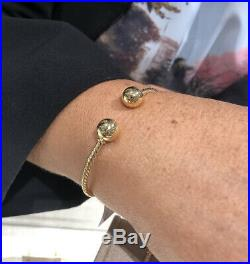 David Yurman Solari Bead Cuff Bracelet In 18k Gold. New With Tags