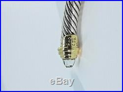 David Yurman Sterling Silver Classic Cable 5mm Gold with Prasiolite Bracelet