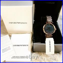 Emporio Armani AR11145 Rose Gold Tone Mother Of Pearl Ladies Wrist Watch