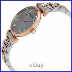 Emporio Armani AR1840 Classic Silver & Rose Gold Tone Ladies Wrist Watch
