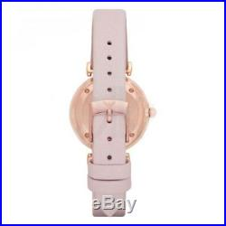 Emporio Armani Retro Rose Gold AR1958 Pink Mother-of-Pearl Leather Women's Watch