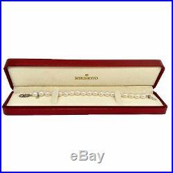 Estate Mikimoto 8.50 Mm Akoya Pearl 18 Kt 7.5 IN Bracelet Certified $4,950 92120