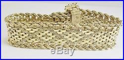Estate Stunning 14k Gold Sapphire & Pearl Belt Bracelet 0.65ct 8 Gia $6,232.00