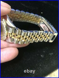 Factory Rolex Mid # 68273 31mm Datejust 18k & SS Factory Dial Jubilee Bracelet