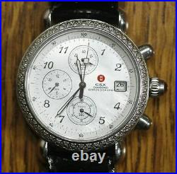 Genuine MICHELE CSX Diamond Chronograph Watch 71-4000/5000 Mother of Pearl Dial