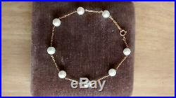 Genuine Mikimoto pearl and 18ct gold bracelet