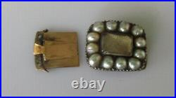 Georgian Gold Clasp Multi Natural Pearl Oblong Clasp (For Necklace/Bracelet)
