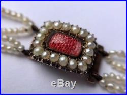 Georgian Natural Pearl And Gold Bracelet. C1830. Restrung And Superb Original