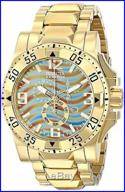 INVICTA 15976 Excursion Chronograph Mother of Pearl Dial Gold Men's Watch