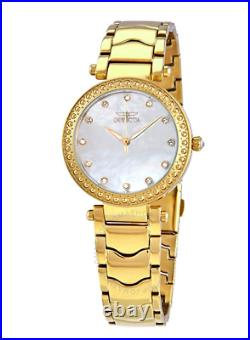 Invicta 23964 Wildflower Crystal White Mother of Pearl Dial Ladies Watch