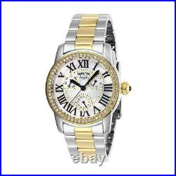 Invicta Angel 28471 Women's Round Day Date Two-Tone Mother of Pearl Watch