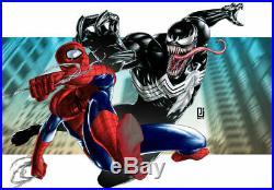 Invicta Marvel Men's 52mm Venom Ltd. Ed. Automatic Open Heart Silicone Strap
