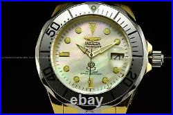 Invicta Men 300M Grand Diver NH35 Automatic Two Tone Mother of Pearl Dial Watch