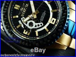 Invicta Men Caliper Carbon Fiber Pro Diver 24J Automatic 18KGP Fire Blu IP Watch