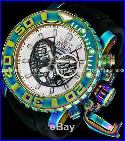 Invicta Men Sea Hunter Gen II Swiss Chronograph MOP DiaI Iridescent Black Watch