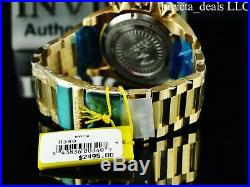 Invicta Mens 63mm Grand Arsenal Swiss Chronograph Black MOP Dial 18K GP SS Watch