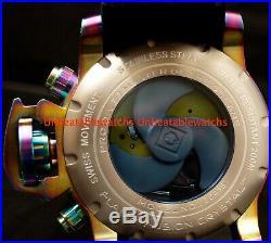 Invicta Mens Sea Hunter Gen II Swiss 58MM MOP Dial Chron Iridescent Rubber Watch