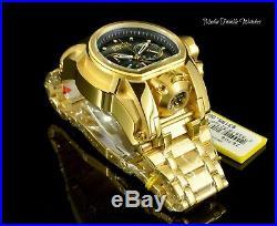 Invicta Reserve 52mm Bolt Zeus BLACK M. O. P DIAL MAGNUM 18K Gold Plated Watch