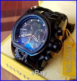 Invicta Reserve Bolt Zeus Magnum Black 52mm Iridescent Dial Swiss Watch 26712