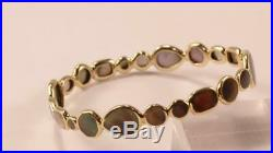 Ippolita Rock Candy 18k Yellow Gold Black Mother Of Pearl Shell Bangle Bracelet