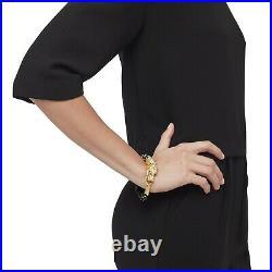 John Hardy Legends Naga Black Mo Pearl Bead Bracelet 18k Gold Diamonds Sz M New