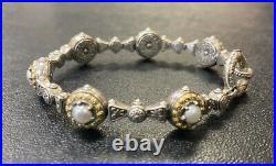 KONSTANTINO New Melina Pearl Sterling Silver 18K Gold Bracelet
