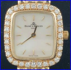 LADIES BAUME MERCIER WATCH DIAMOND & MOTHER OF PEARL 14k YELLOW GOLD YG