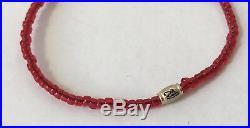 LUIS MORAIS Glass Bead Enamelled & Gold Bracelet Colour RED