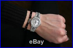 Ladies Rolex 26mm Datejust White MOP Mother of Pearl Dial with Diamond Watch