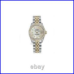 Ladies Rolex Steel 18K Gold 31mm Datejust White Pearl MOP Diamond Jubilee watch