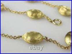 MARCO BICEGO Bracelet Siviglia Bead 750 18K Yellow Gold Link 7.5