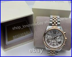 MICHAEL KORS MK5735 Lexington Chronograph Tri-Tone Ladies Wrist Watch USA