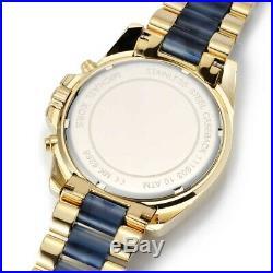MICHAEL KORS MK6268 Bradshaw Chronograph Blue Dial Blue & Gold Tone Ladies Watch