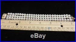 MIKIMOTO Akoya Pearls Triple Strand 18Kt Yellow Gold Bracelet6-6.5mm AA Quality