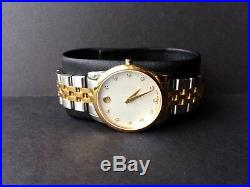 MOVADO 0606613 Gold-Tone Mother of Pearl Dial Museum Diamonds Ladies Watch