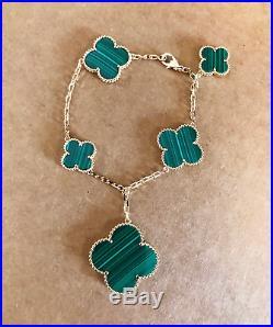 Magic Alhambra 5 Motifs Bracelet 18 K Solid Gold Made To Order