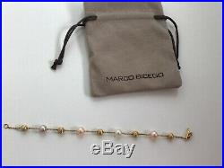 Marco Bicego Africa 18K yellow gold and pearl station bracelet