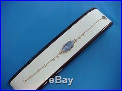 Meira T Retail $1815 Tanzanite, Mother-of-pearl, Diamonds 14k Rose Gold Bracelet