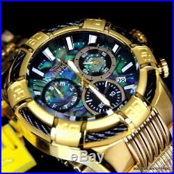 Men's Invicta Bolt Abalone Swiss Movt 51mm Chronograph Gold Plated Watch New