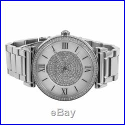 Michael Kors MK3355 Catlin Mother Of Pearl Crystal Dial Silver Tone Wrist Watch